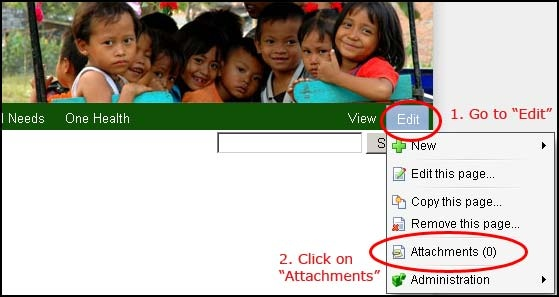 How To Post An Attachment Wiki Instructions Basic Confluence