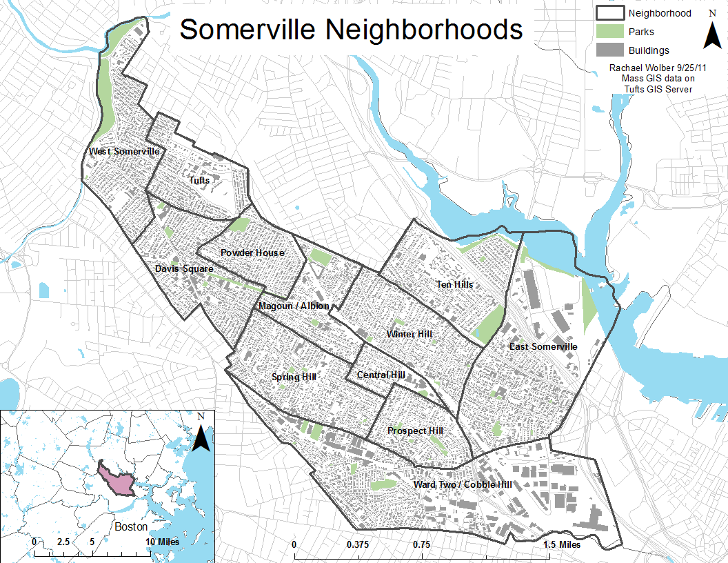 Image Gallery Somerville Map